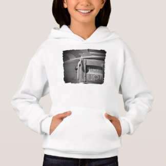 Surf surfboard surf's Up surfing black and white Hoodie