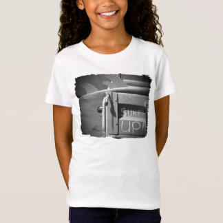 Surf surfboard surf's Up surfing black and white T-Shirt