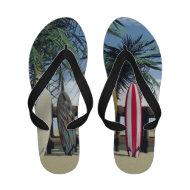 Surf Surfing Summer Flip Flops