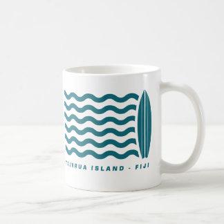 Surf Tavarua in Fiji Basic White Mug