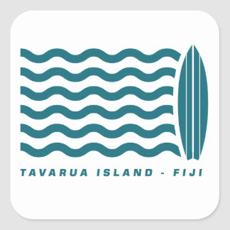 Surf Tavarua in Fiji Square Stickers