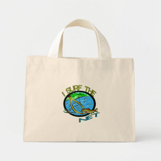 Surf The Net Fishing T-shirts and Gifts Tote Bag