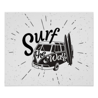 Surf The Wave Poster