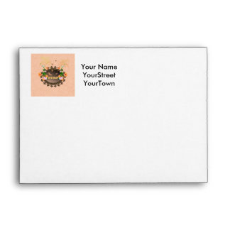 Surf, the word with flowers envelope