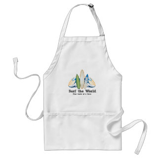 Surf the World, One Wave at a Time Adult Apron
