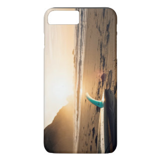 Surf Themed, Surfboard Lays On The Sandy Beach As iPhone 8 Plus/7 Plus Case
