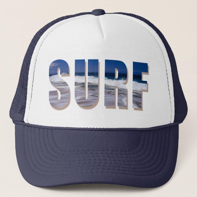 Flowers Paddle Surf Board Mesh Caps Adjustable Unisex Snapback Trucker Cap