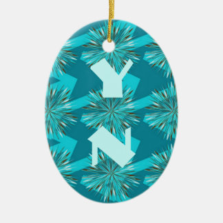 Surf & Turf Pattern Collection Christmas Tree Ornament