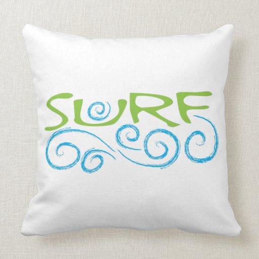 Surf Type Pillow Zazzle