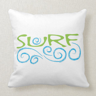 SURF Type Throw Pillow