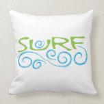 SURF Type Throw Pillows