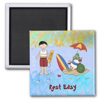 Surf up Dude 2 Inch Square Magnet