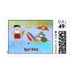 Surf up Dude Postage Stamps