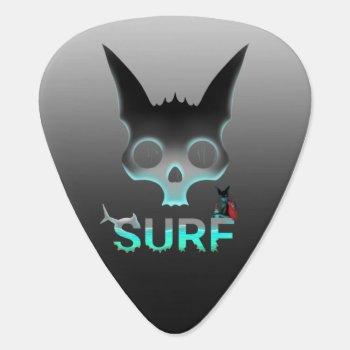 Surf Urban Graffiti Cool Cat Guitar Pick by Ferzio at Zazzle