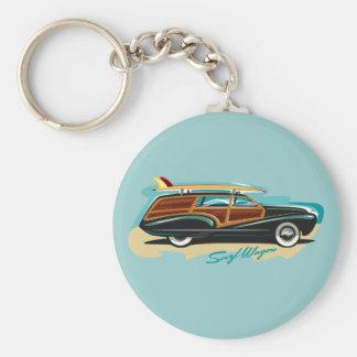Surf Wagon Woody Keychain