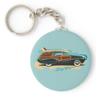 Surf Wagon Woody Keychains