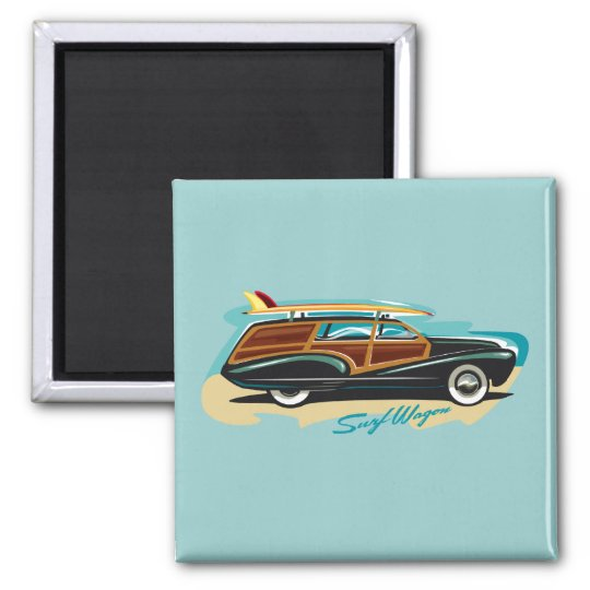 Surf Wagon Woody Magnet