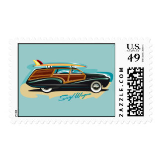 Surf Wagon Woody Postage