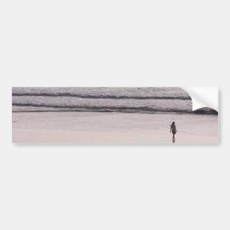 Surf walk bumper sticker
