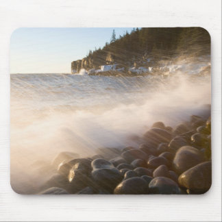 Surf washes over the cobblestones in Monument Mouse Pad