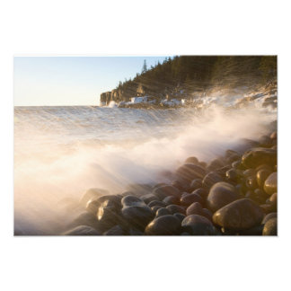 Surf washes over the cobblestones in Monument Photo Print