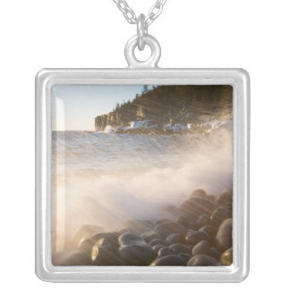 Surf washes over the cobblestones in Monument Square Pendant Necklace