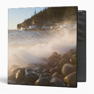Surf washes over the cobblestones in Monument Vinyl Binder