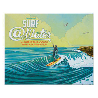 Surf Water surfer poster- 20 x 16