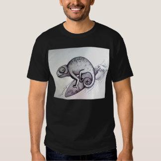 surf wave beach life lizard tattoo art t shirt