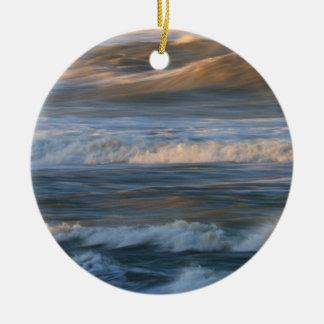 Surf Wave Motion Ceramic Ornament
