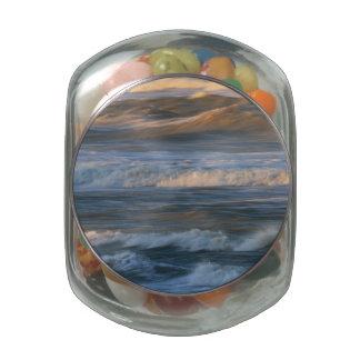 Surf Wave Motion Glass Jar