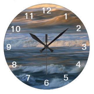 Surf Wave Motion Large Clock