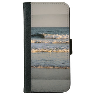 Surf Waves and Gull Wallet Phone Case For iPhone 6/6s
