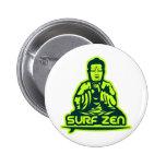 Surf Zen Pinback Buttons