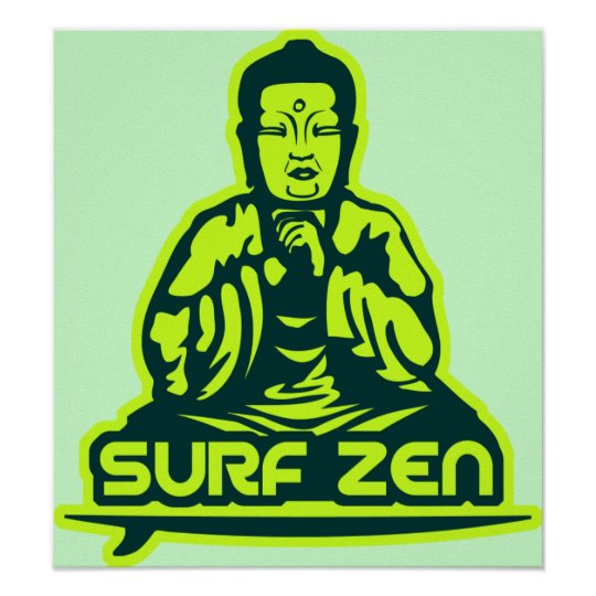 Surf Zen Poster