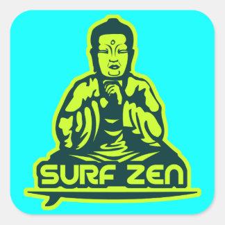 Surf Zen Square Stickers