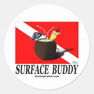 Surface Buddy Classic Round Sticker