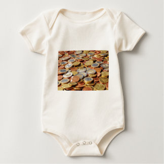 Surface from euro coins baby bodysuit