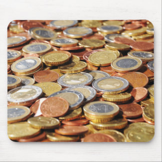 Surface from euro coins mouse pad