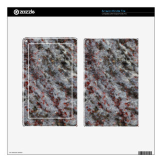 Surface of a gneiss rock with garnets kindle fire decal