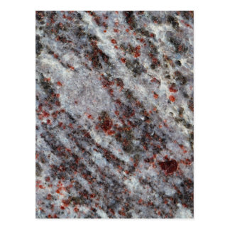 Surface of a gneiss rock with garnets postcard