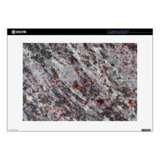 """Surface of a gneiss rock with garnets skin for 15"""" laptop"""