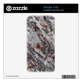 Surface of a gneiss rock with garnets skins for the iPhone 4S