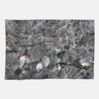Surface of a Labradorite Rock Hand Towel