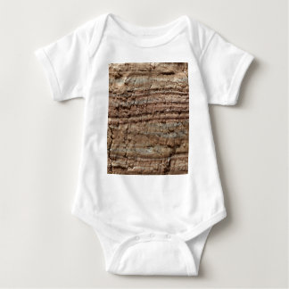Surface of carbonate rock with weathering traces baby bodysuit