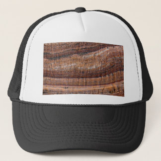 Surface of carbonate rock with weathering traces trucker hat