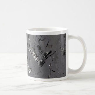 Surface of pure silicon crystals coffee mug