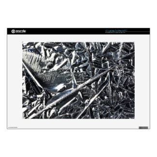 Surface of pure silicon crystals laptop decal