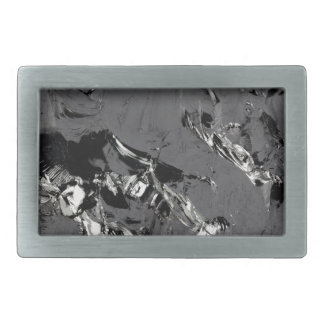 Surface of pure silicon crystals rectangular belt buckle