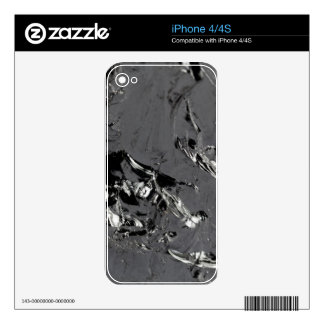 Surface of pure silicon crystals skin for the iPhone 4